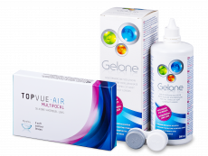 TopVue Air Multifocal (3 läätse) + Gelone 360 ml