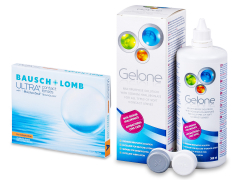 Bausch + Lomb ULTRA for Astigmatism(3 läätse) + Gelone 360 ml
