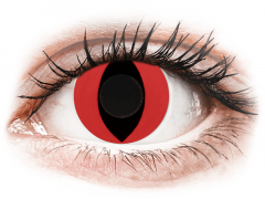 CRAZY LENS - Cat Eye Red - Ühepäevased läätsed 0-tugevusega (2 läätse)