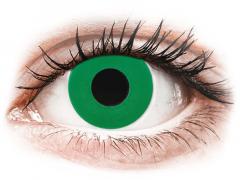 CRAZY LENS - Emerald Green - Ühepäevased läätsed 0-tugevusega (2 läätse)