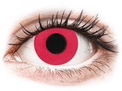 CRAZY LENS - Solid Red - Ühepäevased läätsed 0-tugevusega (2 läätse)