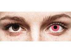 CRAZY LENS - Solid Rose - Ühepäevased läätsed 0-tugevusega (2 läätse)