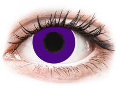 CRAZY LENS - Solid Violet - Ühepäevased läätsed Korrigeerivad  (2 läätse)