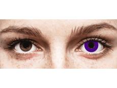 CRAZY LENS - Solid Violet - Ühepäevased läätsed 0-tugevusega (2 läätse)