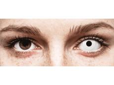 CRAZY LENS - WhiteOut - Ühepäevased läätsed 0-tugevusega (2 läätse)