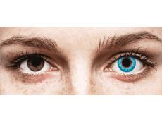 CRAZY LENS - White Walker - Ühepäevased läätsed 0-tugevusega (2 läätse)