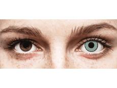 CRAZY LENS - Zombie Virus - Ühepäevased läätsed 0-tugevusega (2 läätse)