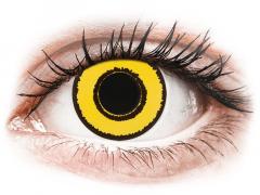 CRAZY LENS - Yellow Twilight - Ühepäevased läätsed 0-tugevusega (2 läätse)