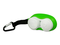 Karbiiniga läätsekonteiner - roheline