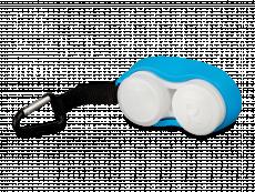 Karbiiniga läätsekonteiner - sinine