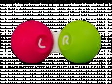 Läätsekonteiner - roosa-roheline