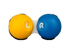 Läätsekonteiner - kollane-sinine