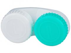 Läätsekonteiner roheline & valge L/R