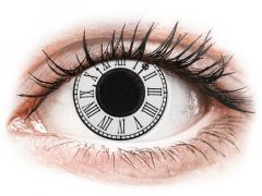 CRAZY LENS - Clock - Ühepäevased läätsed 0-tugevusega (2 läätse)