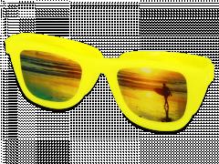 OptiShades läätsekonteiner - kollane