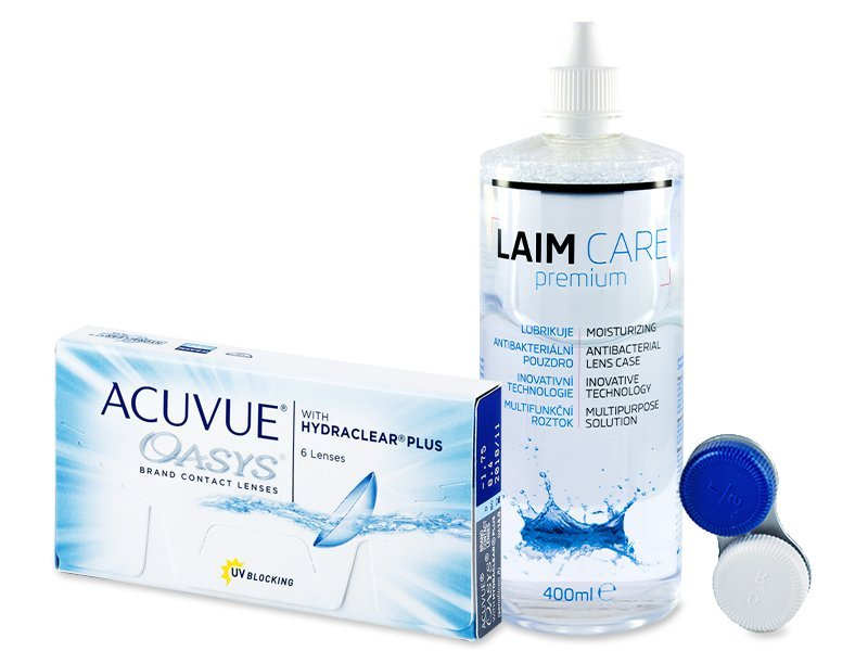 Acuvue Oasys (6 läätse) + Laim-Care 400ml