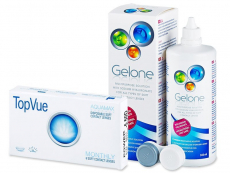 TopVue Monthly (6 läätse) + Gelone 360 ml